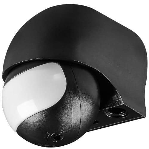 Infrarot Bewegungsmelder slim Aufputz schwarz; Bewegungsmelder ODA (schwarz) slim