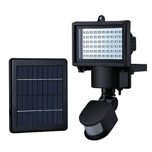 Mpow Solar bewegungs-Sensor-Lampe, 60 LED wasserdicht solarbetriebene Sicherheits-Leuchten mit Bewegungsmelder für Garten, Terrasse, Pathway, Wand, Garage, Garten und mehr Außenbereiche