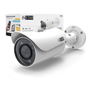 INSTAR IN-5905HD Wlan IP Kamera / Sicherheitskamera für Außen / HD Überwachungskamera / HD IP cam mit LAN & Wlan / Wifi für Outdoor (5 Leistungsstarke IR LEDs, Infrarot Nachtsicht, Weitwinkel, wetterfest, SD Karte, Bewegungserkennung, Aufnahme, WDR) weiss