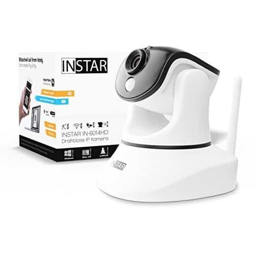 INSTAR IN-6014HD HD IP Kamera / Überwachungskamera / Sicherheitskamera / ip cam für den Innenbereich mit Lan und WLAN / Wifi (12 IR LED Infrarot Nachtsicht, PIR Wärmesensor, Weitwinkel, SD Karte, Aufnahme, Bewegungserkennung, Audio) weiss