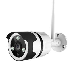 Netvue Vigil 1080p Bullet Kamera, Kompatibel mit Alexa, wetterfest Outdoor Home Security Wi-Fi-fähige Kamera mit Nachtsicht, 24/7 Cloud Recording und TF-Speicherkarte, Motion Detection Gruß von Netvue