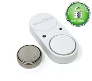 SCHÜCO SoundGuard Glasbruchmelder - Einbruchschutz für mehr Sicherheit im eigenen Heim - extrem lauter 100 dB Alarm bei Glasbruch bzw. Erschütterung zum abschrecken von Einbrechern I Fenstersicherung I Einbruchsicherung