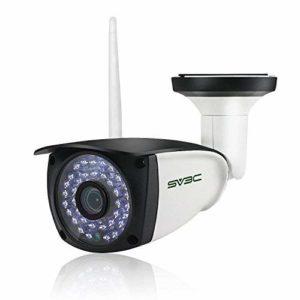 SV3C 720P WLAN IP Überwachungskamera Aussen/IP66 Wireless IP Kamera mit Deutscher Anleitung, Bewegungserkennung,20M Nachtsichtfunktion,128G TF Karten und Kompatibel mit Smartphones,Tablets und Windows