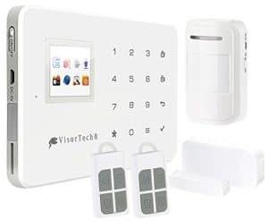 VisorTech Wifi Alarmanlage: WLAN-Alarmanlage XMD-5400.Wifi mit GSM-Handynetz- und Funk-Anbindung (Funkalarm)