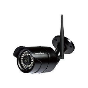 Wansview Wlan IP Kamera, 720P HD Sicherheitskamera für Außen / IP cam mit LAN & Wlan Verbindung / Outdoor IP66 wasserdichte Netzwerkkamera, Infrarot Nachtsicht, deutsche App/Anleitung/, W3 (Schwarz)